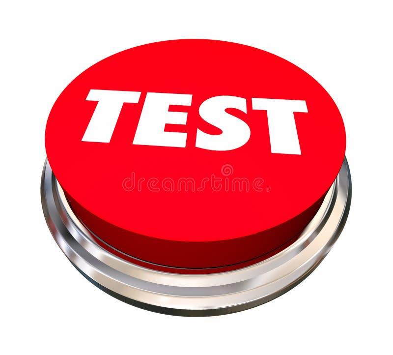 测试评估分析评估按钮 向量例证