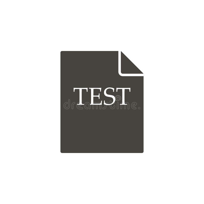 测试,文件传染媒介象 illustrationTest简单的元素,文件传染媒介象 r 库存例证
