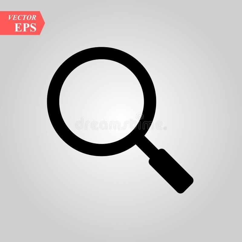 测试 loup标志象或寸镜检查工具 发现流动app和网站的传染媒介例证现代标志 向量例证