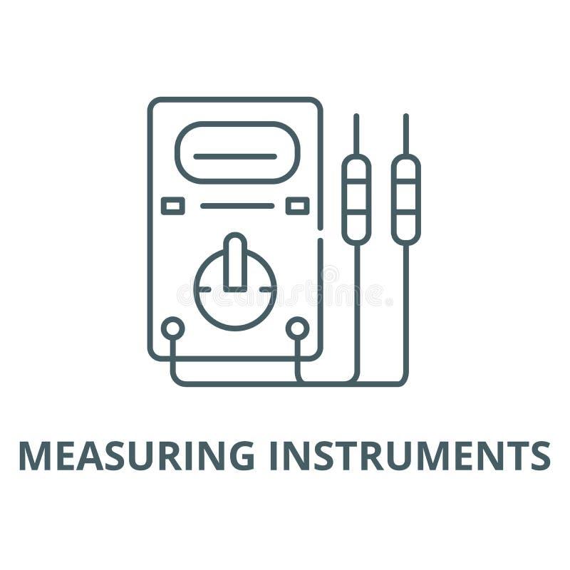 测量仪器导航线象,线性概念,概述标志,标志 向量例证