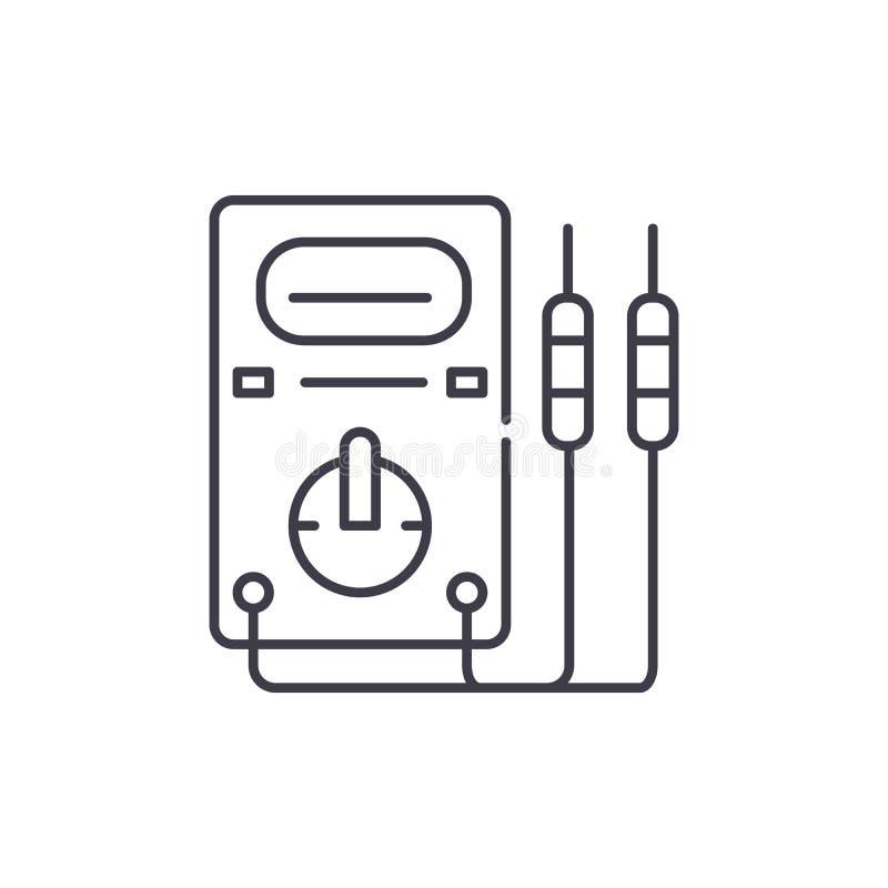 测量仪器排行象概念 测量仪器导航线性例证,标志,标志 向量例证