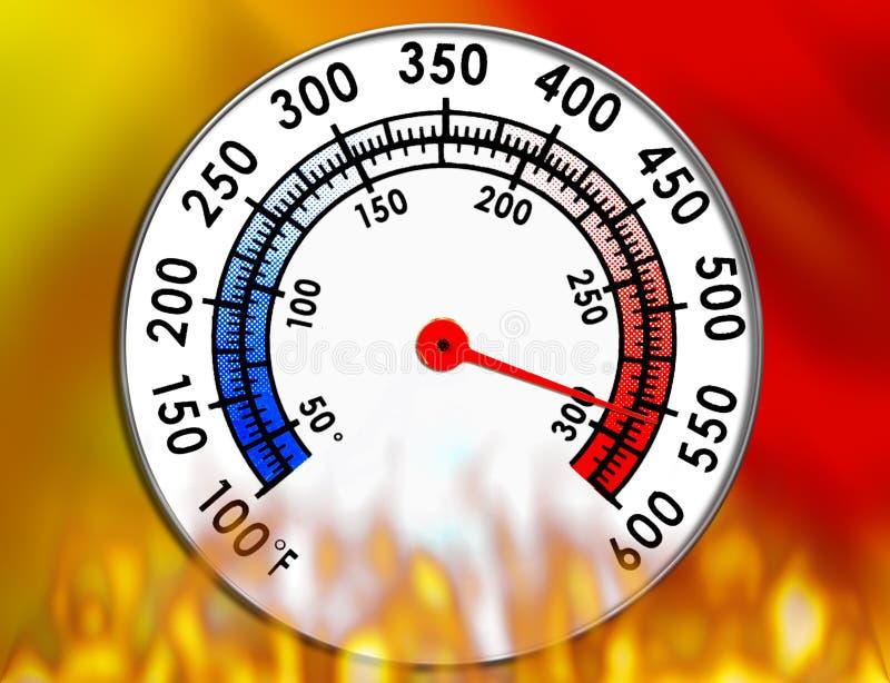 测量仪温度 免版税库存照片