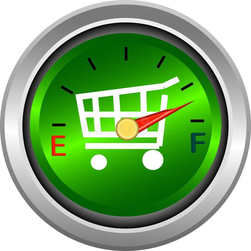 测量仪评定货币购物 向量例证