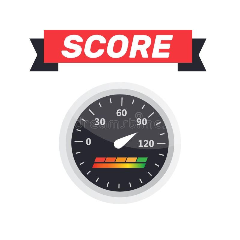 测量仪象 信用评分显示和测量仪传染媒介集合 评分 皇族释放例证