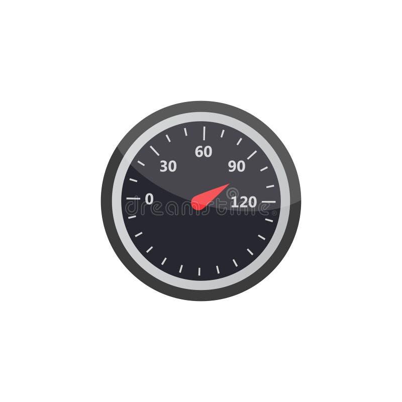 测量仪象 被设置的信用评分显示和测量仪 评分 库存例证