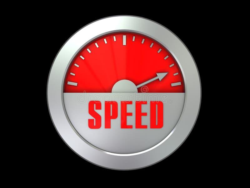 测量仪速度 向量例证