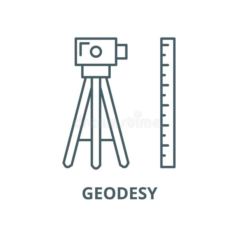 测量学传染媒介线象,线性概念,概述标志,标志 库存例证