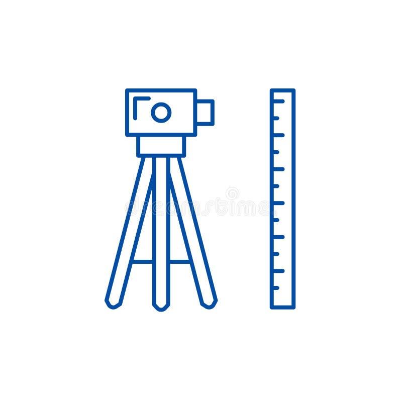 测量学线象概念 测量学平的传染媒介标志,标志,概述例证 皇族释放例证