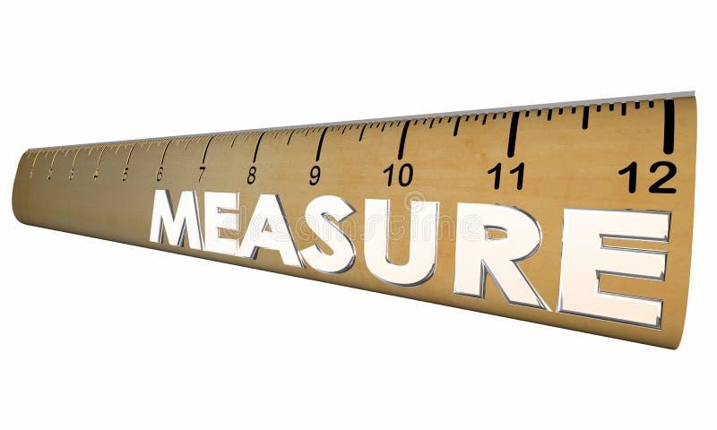 测量您的健康健康健身统治者 库存例证