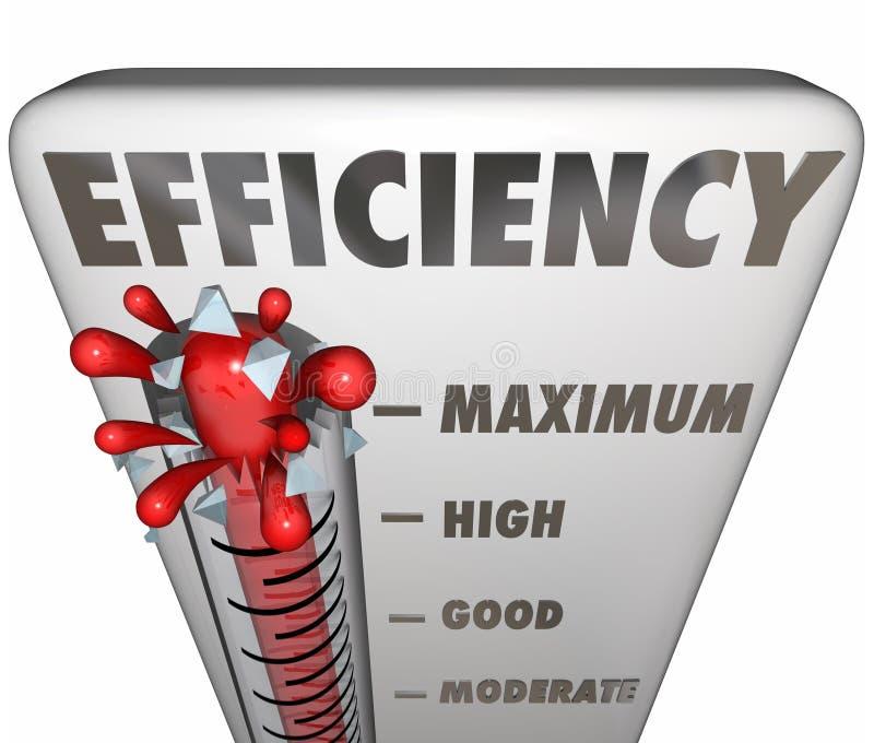 测量有效的生产力水平的效率温度计 皇族释放例证