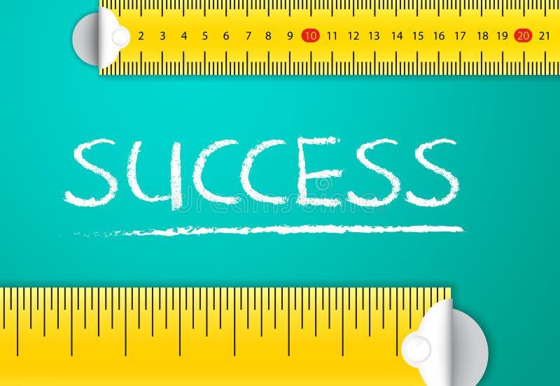 测量的企业成功和成就 库存例证
