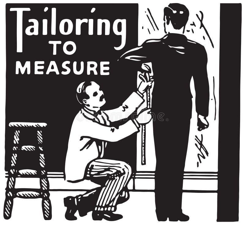 测量的剪裁 向量例证