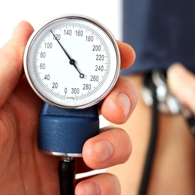 测量的正常血压 库存照片