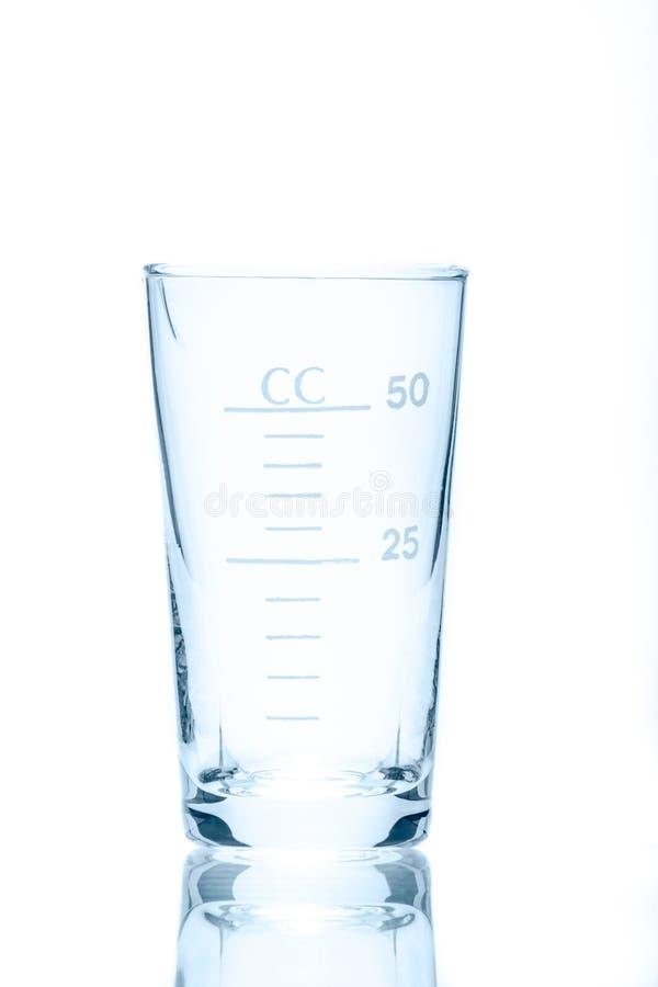 测量的温度抗性圆锥形烧杯50 ml 免版税库存照片