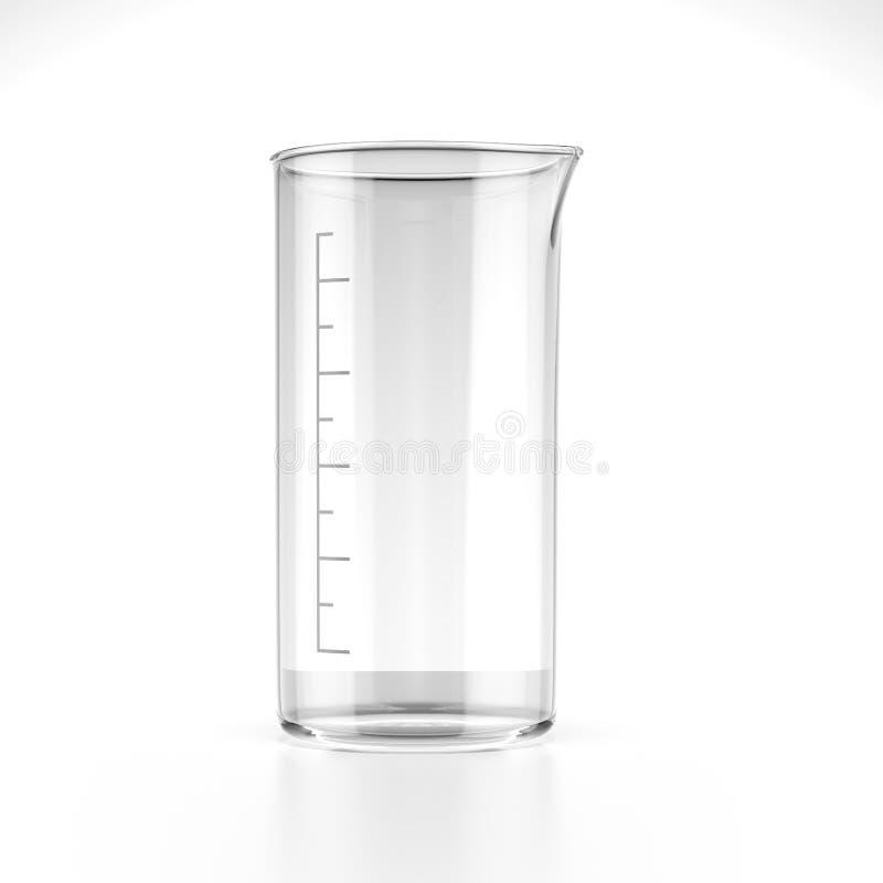 测量的烧杯 库存例证