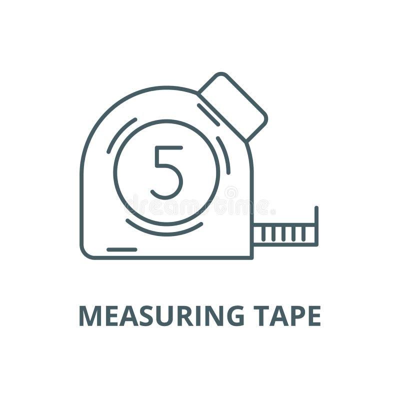 测量的磁带传染媒介线象,线性概念,概述标志,标志 皇族释放例证