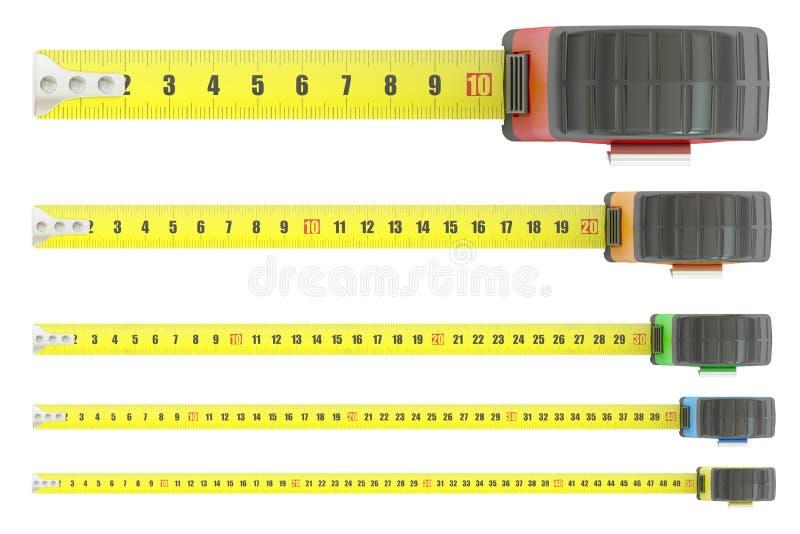 测量的磁带, 3D翻译 向量例证