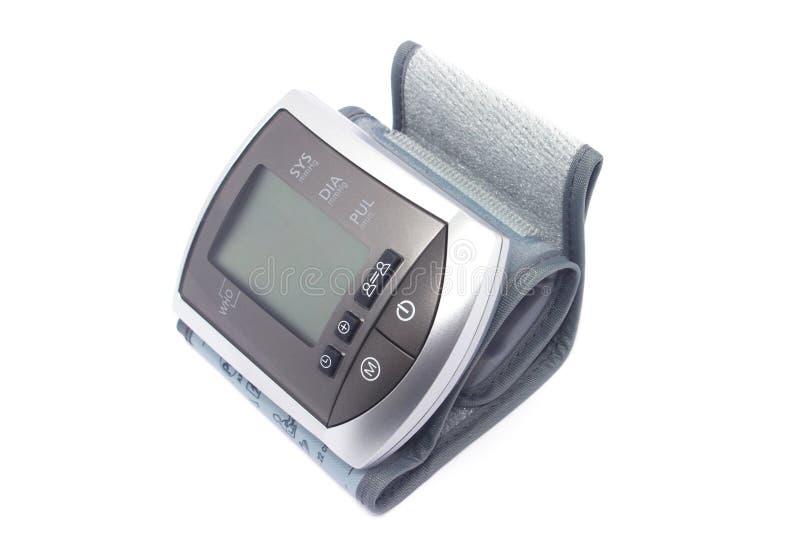 测量的血压的Tonometer在白色背景 免版税库存图片