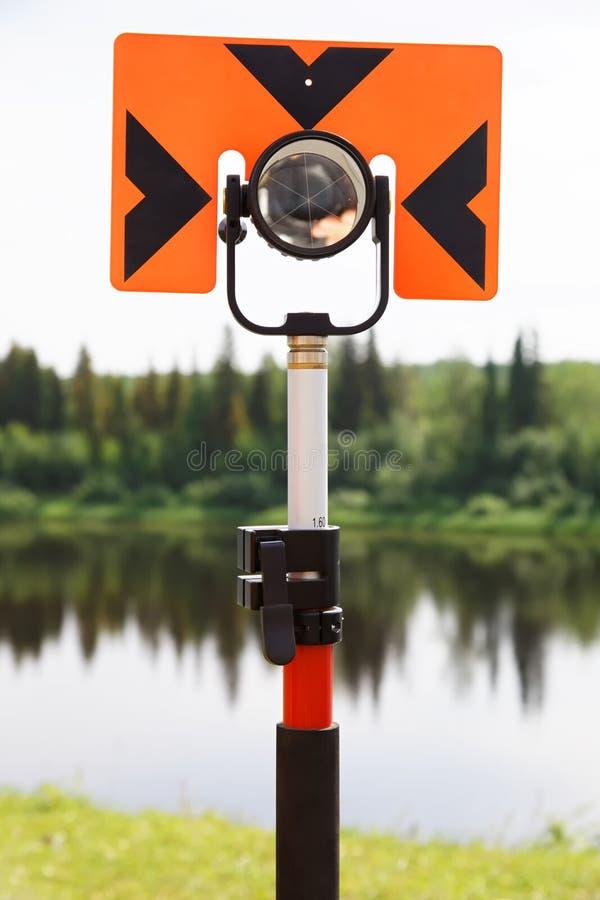 测量的距离的现代反射器由准距计 库存图片