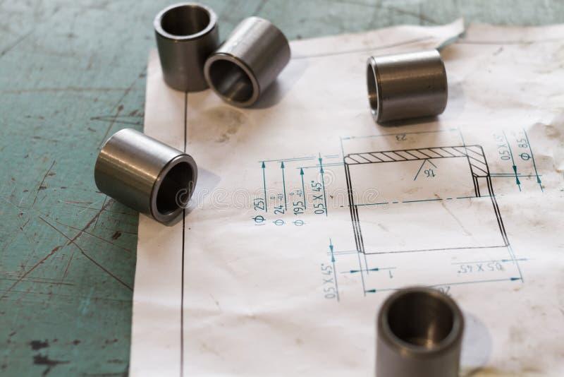 测量的金属组分 免版税库存图片