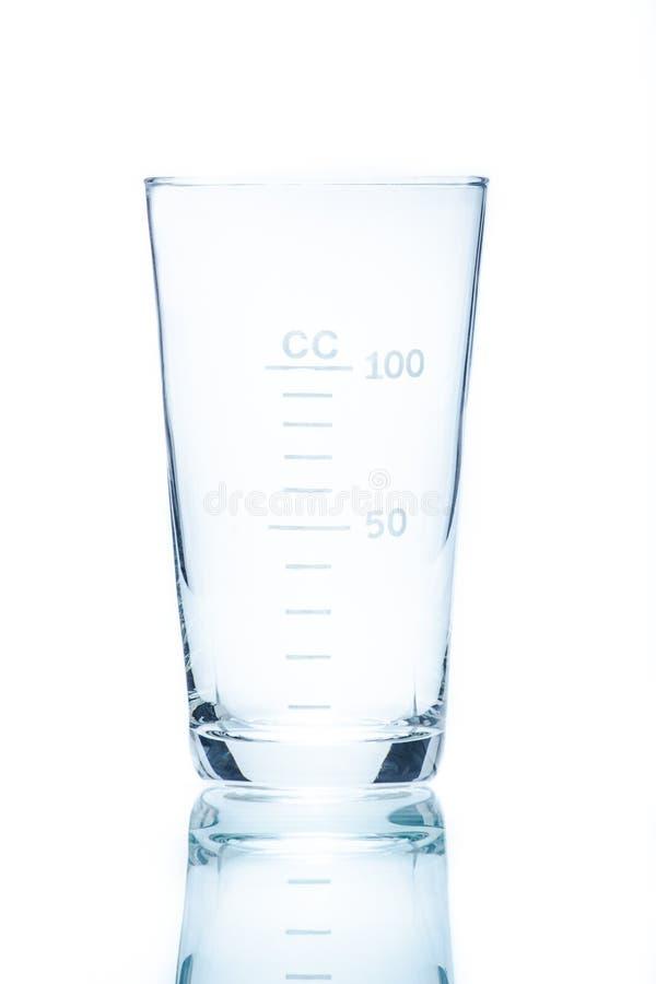 测量的100ml温度抗性圆锥形烧杯 库存图片