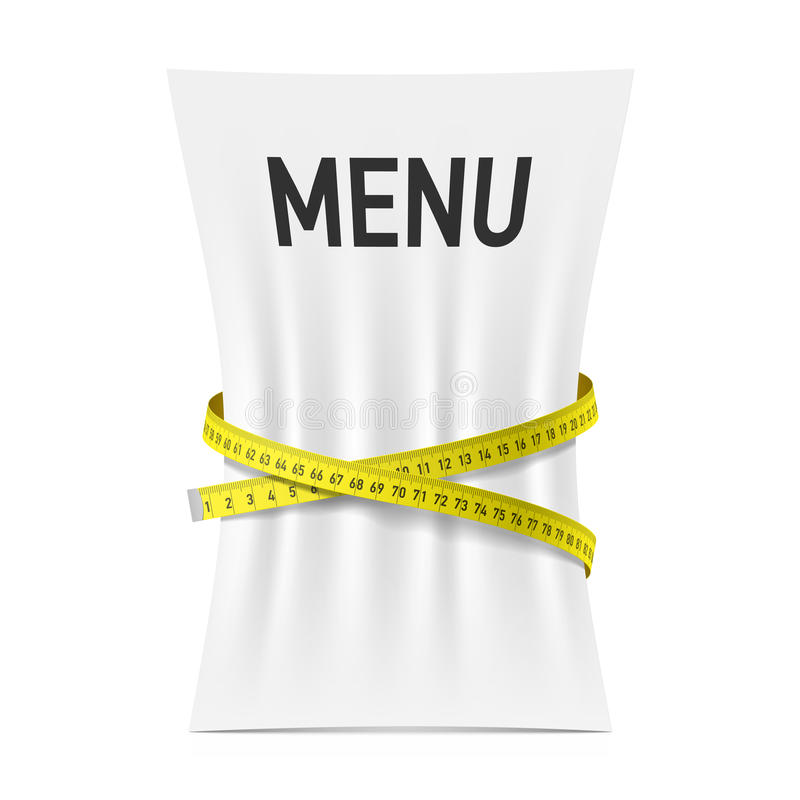 测量紧压的菜单磁带 库存例证