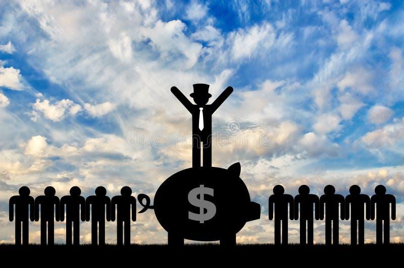 经济不平等的概念 向量例证