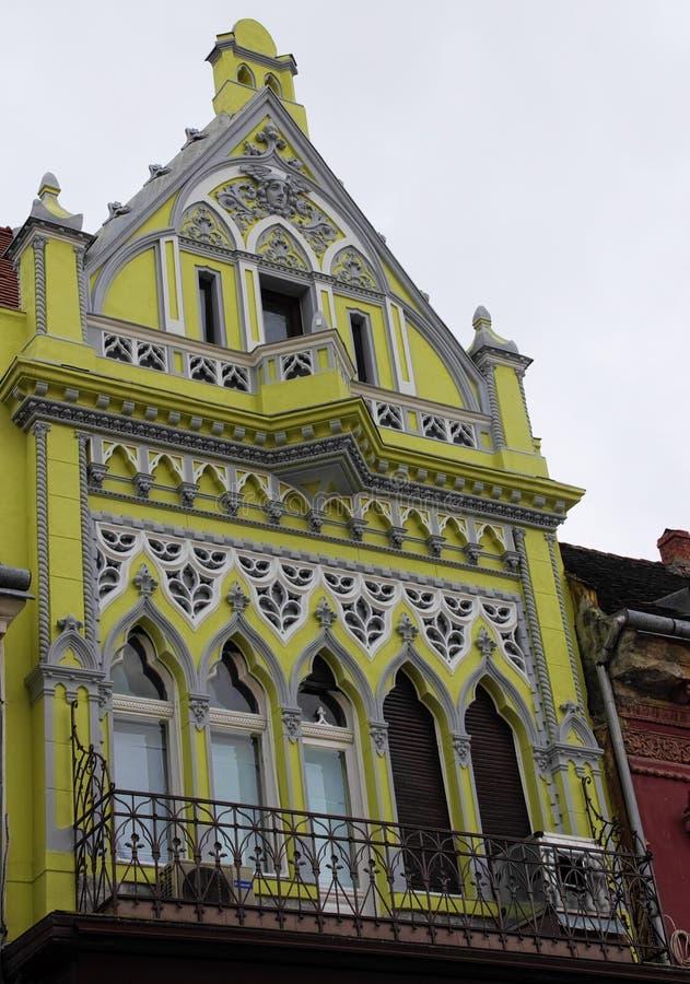 经济公寓住宅在老市布拉索夫 库存照片