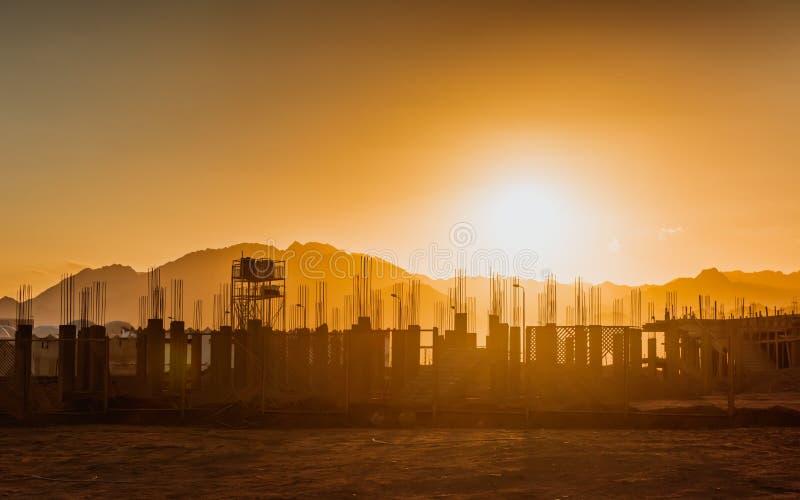 经济危机被放弃的建筑在埃及 图库摄影