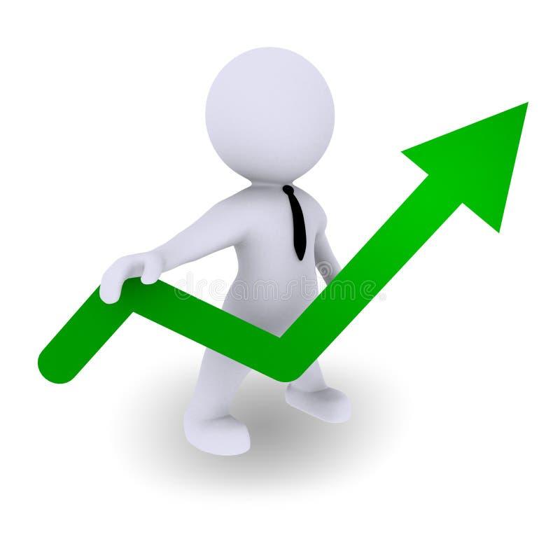 经济增长 向量例证