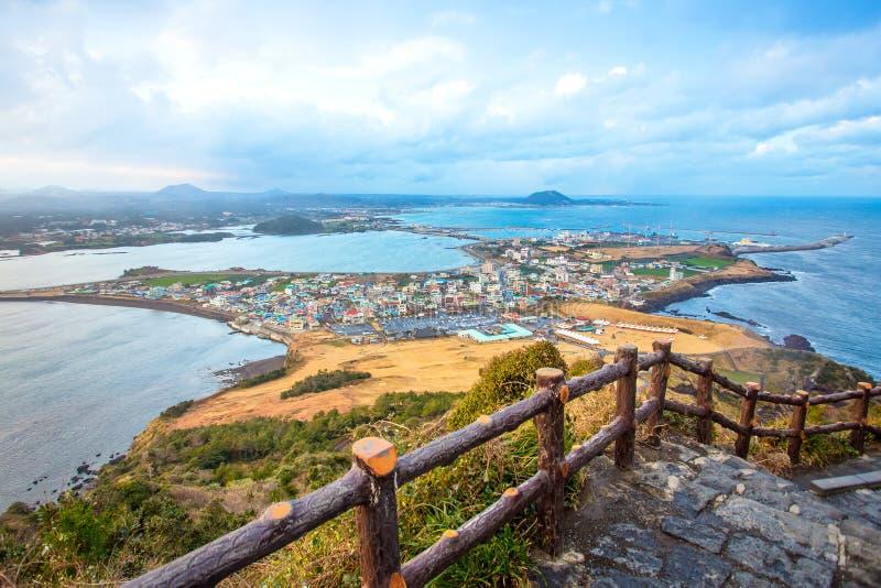 济州使海岛,韩国靠岸 免版税库存照片