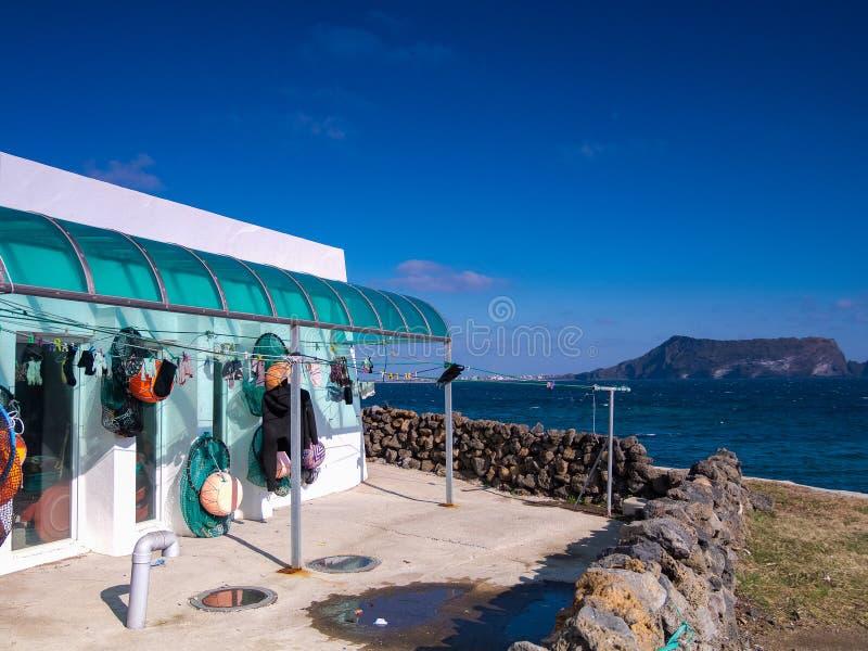 济州海岛美人鱼房子 库存照片