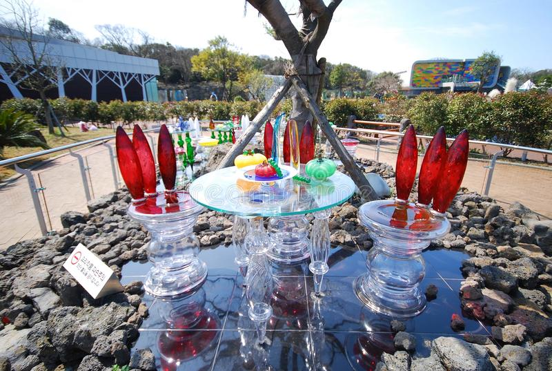 济州玻璃城堡 库存图片