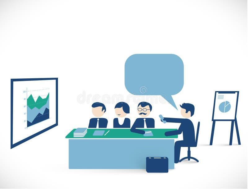 经济情况-会议室 库存例证