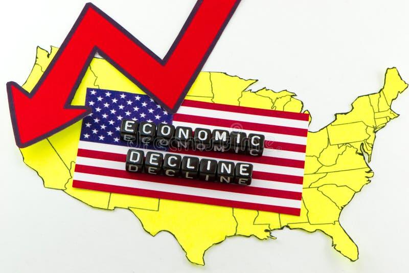 经济的衰落 向量例证