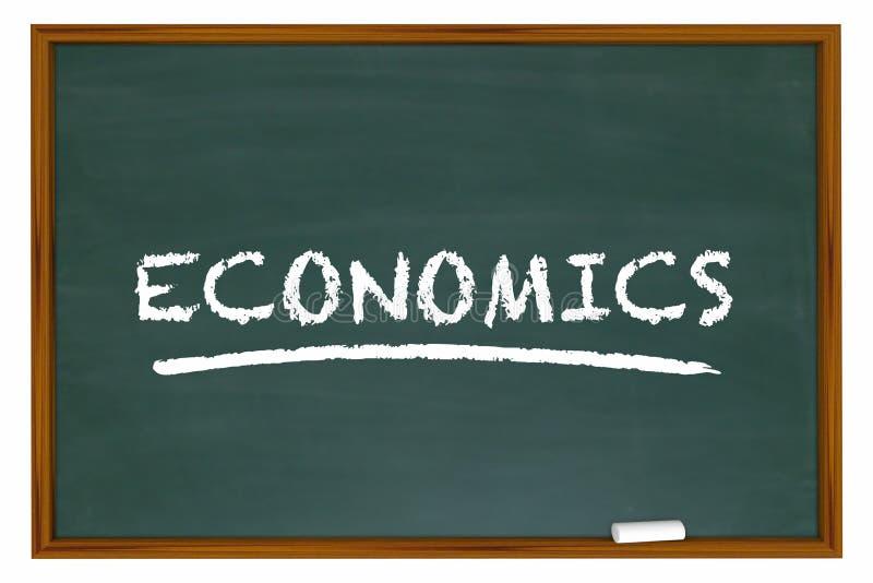经济粉笔板经济预算的财务词 库存例证