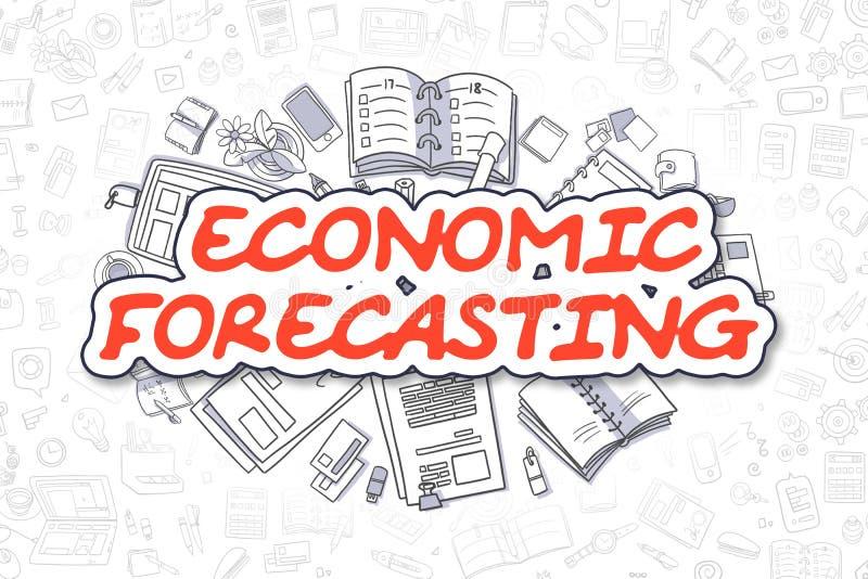 经济预测-动画片红色词 到达天空的企业概念金黄回归键所有权 向量例证
