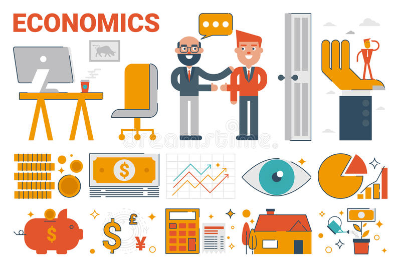 经济infographic元素和象 库存例证