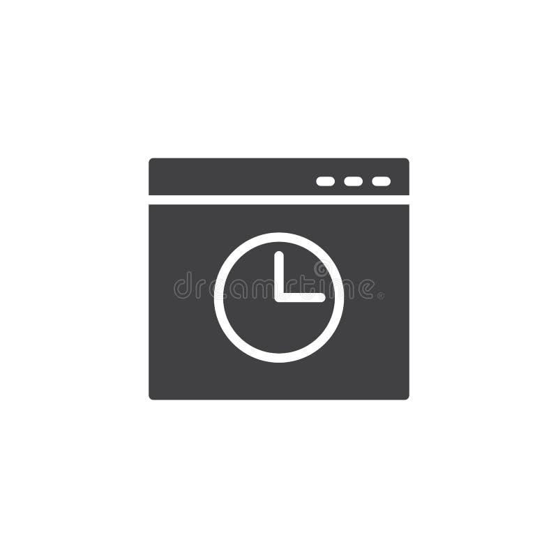 浏览器历史窗口传染媒介象 库存例证