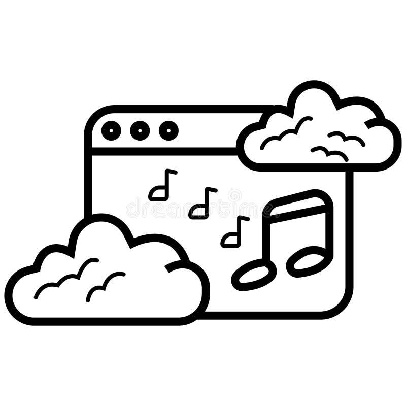 浏览器细节音乐网页象 皇族释放例证
