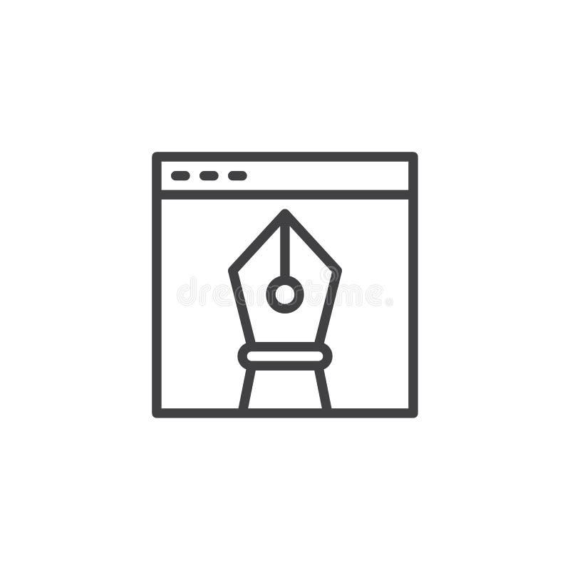 浏览器视窗和传染媒介设计图工具概述象 向量例证