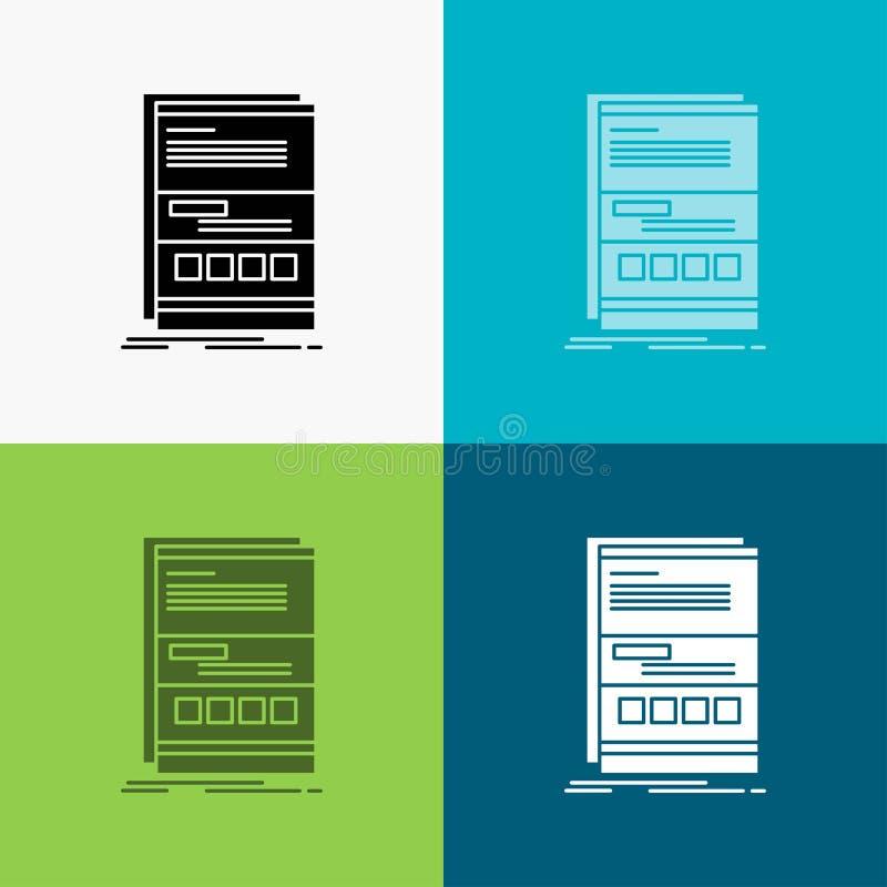 浏览器,动力学,互联网,页,在各种各样的背景的敏感象 r 10 eps 库存例证