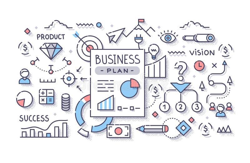 浏览详述的企业动画片任意感觉其他计划系列对工作 向量例证