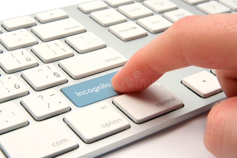 浏览隐姓埋名的互联网 免版税库存照片