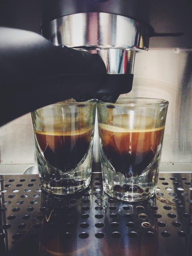 浓咖啡射击 免版税库存图片