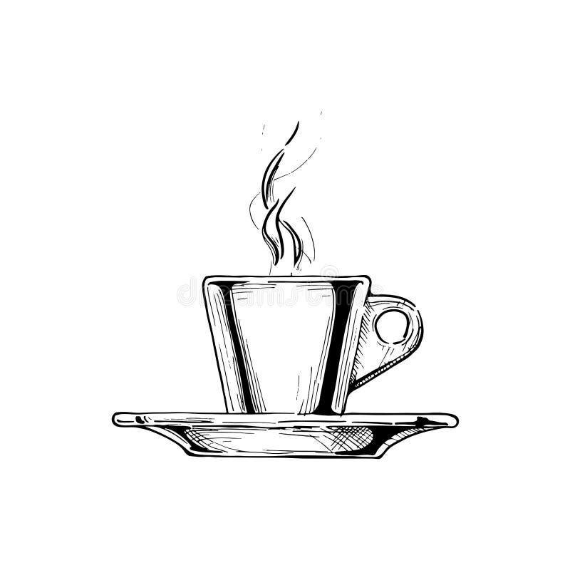 浓咖啡杯子的例证 皇族释放例证