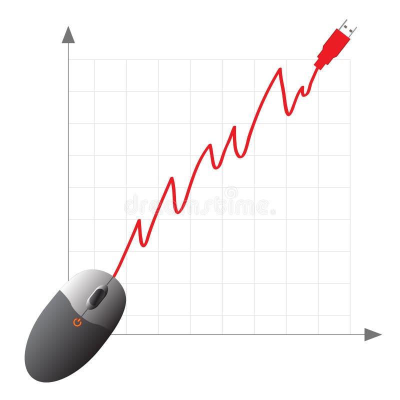浓缩的电子商务在线购物 向量例证