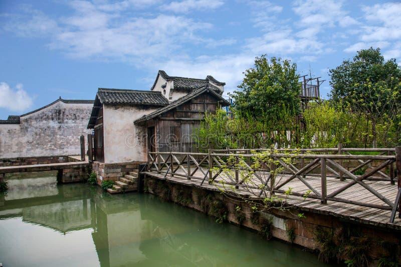 浙江嘉兴Wuzhen西山 库存图片