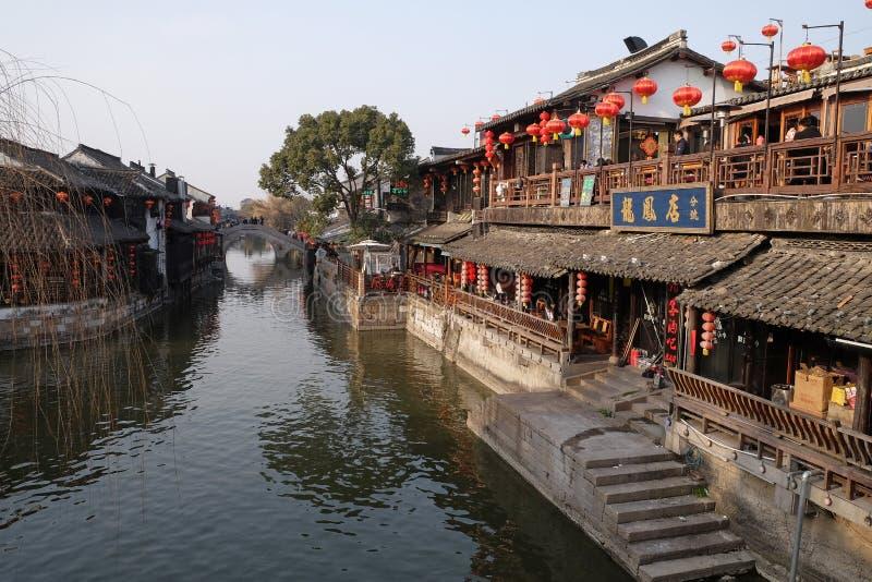 浙江的,中国中国水村庄西塘 免版税图库摄影