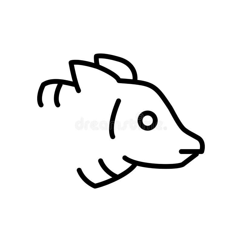 浣熊在白色背景隔绝的象传染媒介,浣熊标志 皇族释放例证
